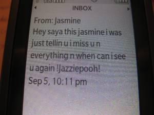Jasmine text #2